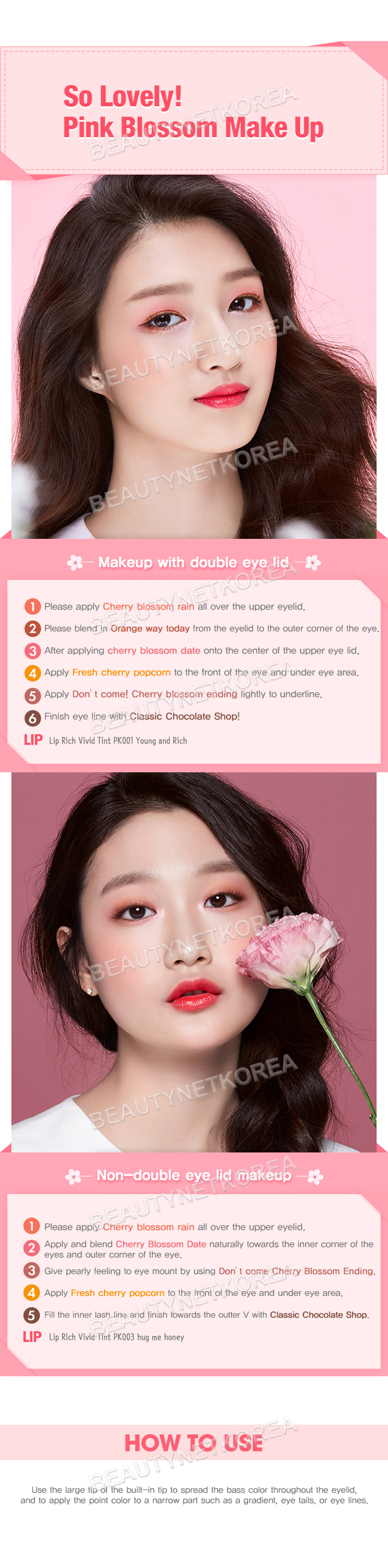 ETUDE HOUSE] Play Color Eyes #Cherry Blossom 0.8g * 10color (Weight ...